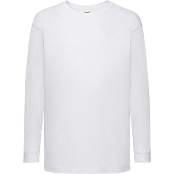 textil Niños Camisetas manga larga Fruit Of The Loom 61007 Blanco