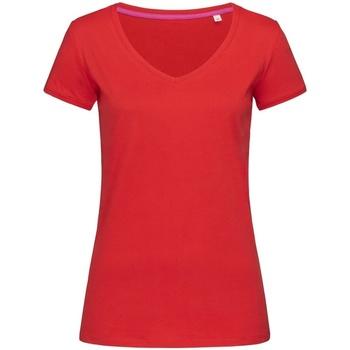 textil Mujer Camisetas manga corta Stedman Stars Megan Rojo pasión