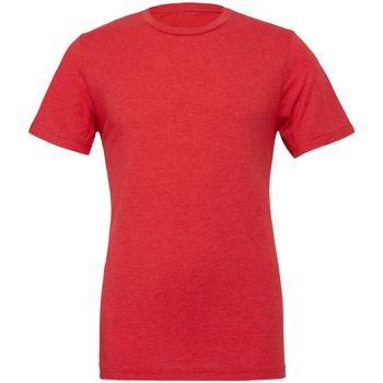 textil Hombre Camisetas manga corta Bella + Canvas CA3413 Rojo Jaspeado