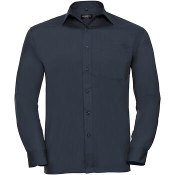 textil Hombre Camisas manga larga Russell 934M Azul marino