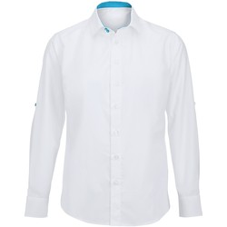 textil Hombre Camisas manga larga Alexandra Hospitality Blanco/Turquesa