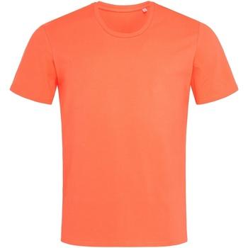 textil Hombre Camisetas manga corta Stedman  Rosa salmón