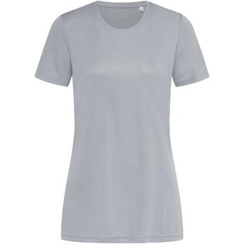 textil Mujer Camisetas manga corta Stedman  Gris Plata