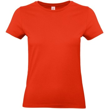 textil Mujer Camisetas manga corta B And C E190 Rojo intenso