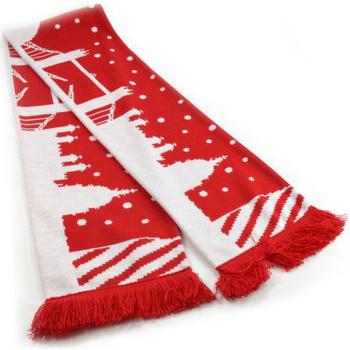 Accesorios textil Bufanda Universal Textiles  Rojo/Blanco
