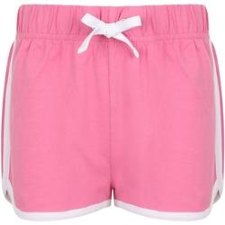 textil Niños Shorts / Bermudas Skinni Fit SM69 Rosa Fuerte/Blanco