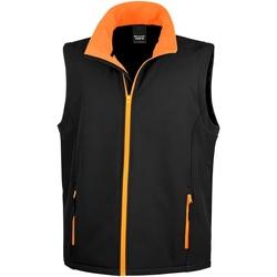 textil Hombre Chaquetas de punto Result R232M Negro/Naranja