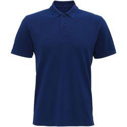 textil Hombre Polos manga corta Asquith & Fox AQ017 Azul índigo