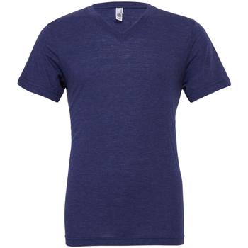 textil Hombre Camisetas manga corta Bella + Canvas CA3415 Azul marino jaspeado