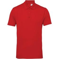 textil Hombre Polos manga corta Tridri TR012 Rojo intenso