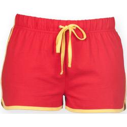 textil Mujer Shorts / Bermudas Skinni Fit SK069 Rojo/amarillo