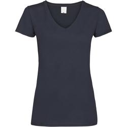 textil Mujer Camisetas manga corta Universal Textiles Value Azul Medianoche