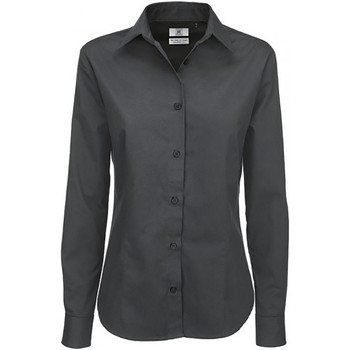 textil Mujer Camisas B And C SWT83 Gris oscuro