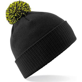 Accesorios textil Niña Gorro Beechfield Snowstar Negro/Verde Lima