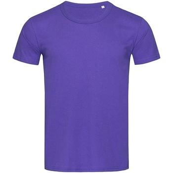 textil Hombre Camisetas manga corta Stedman Stars Stars Lila Profundo