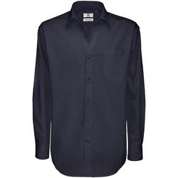 textil Hombre Camisas manga larga B And C SMT81 Azul real