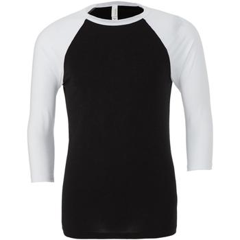 textil Hombre Camisetas manga larga Bella + Canvas CA3200 Negro/Blanco