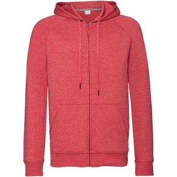 textil Hombre Sudaderas Russell J284M Rojo Jaspeado
