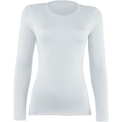 textil Mujer Camisetas manga larga Rhino RH003 Blanco