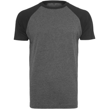textil Hombre Camisetas manga corta Build Your Brand BY007 Carbón/Negro