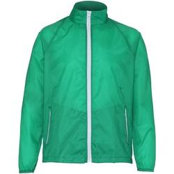 textil Hombre Cortaviento 2786  Verde kelly/Blanco