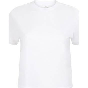 textil Mujer Camisetas manga corta Skinni Fit Cropped Boxy Blanco