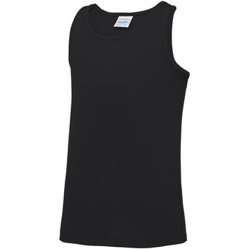 textil Niños Camisetas sin mangas Awdis JC07J Negro azabache