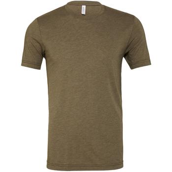 textil Hombre Camisetas manga corta Bella + Canvas CA3413 Oliva jaspeado