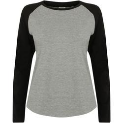 textil Niños Camisetas manga larga Skinni Fit SM271 Gris/negro