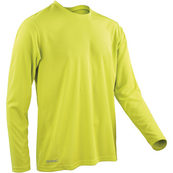 textil Hombre Camisetas manga larga Spiro S254M Verde lima