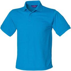 textil Hombre Polos manga corta Henbury HB400 Azul zafiro
