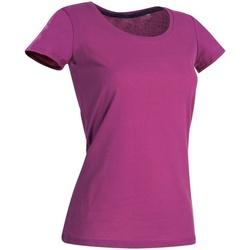 textil Mujer Camisetas manga corta Stedman Stars  Rosa Cupcake