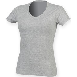textil Mujer Camisetas manga corta Skinni Fit SK122 Gris