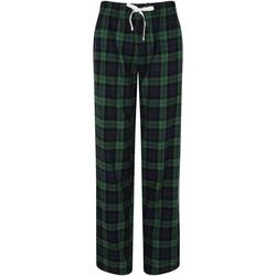 textil Mujer Pijama Skinni Fit Tartan Cuadros Marinos/Verdes