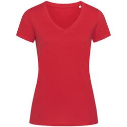 textil Mujer Camisetas manga corta Stedman Stars Janet Rojo Pimiento