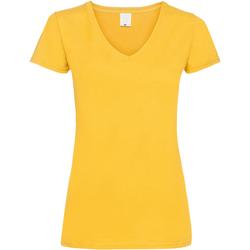 textil Mujer Camisetas manga corta Universal Textiles Value Oro