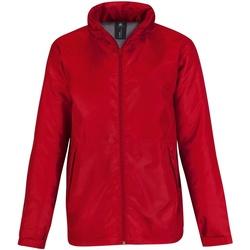 textil Hombre Cortaviento B And C JM825 Rojo/Gris