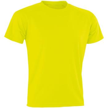textil Hombre Camisetas manga corta Spiro Aircool Amarillo Flo