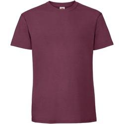textil Hombre Camisetas manga corta Fruit Of The Loom 61422 Vino