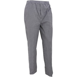 textil Pantalones fluidos Premier PR552 Cuadros Negro/Blanco