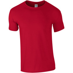 textil Hombre Camisetas manga corta Gildan Soft-Style Rojo cereza