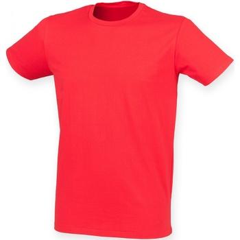 textil Hombre Camisetas manga corta Skinni Fit SF121 Rojo brillante