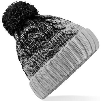 Accesorios textil Gorro Beechfield B459 Negro/Gris Claro