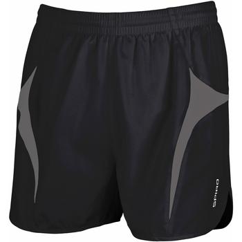 textil Hombre Shorts / Bermudas Spiro S183X Negro/ Gris