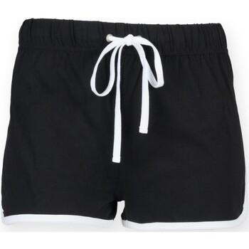 textil Niños Shorts / Bermudas Skinni Fit SM069 Negro/Blanco