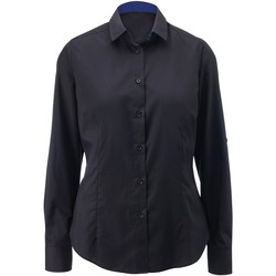 textil Mujer Camisas Alexandra AX060 Negro/Azul Royal