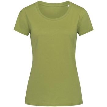 textil Mujer Camisetas manga corta Stedman Stars  Verde Tierra