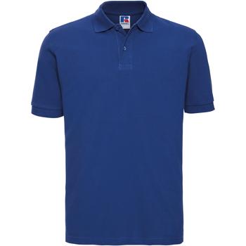 textil Hombre Polos manga corta Russell 569M Azul eléctrico