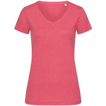textil Mujer Camisetas manga corta Stedman Stars  Cereza Jaspeado