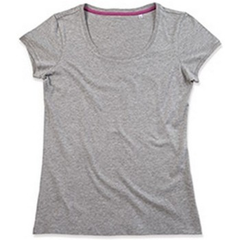 textil Mujer Camisetas manga corta Stedman Stars  Gris Jaspeado